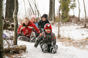 Winter Sliding Kids