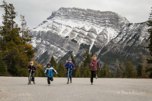 Scootering in Banff