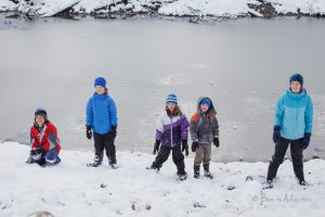 kids Waiting to be hit by a snowball