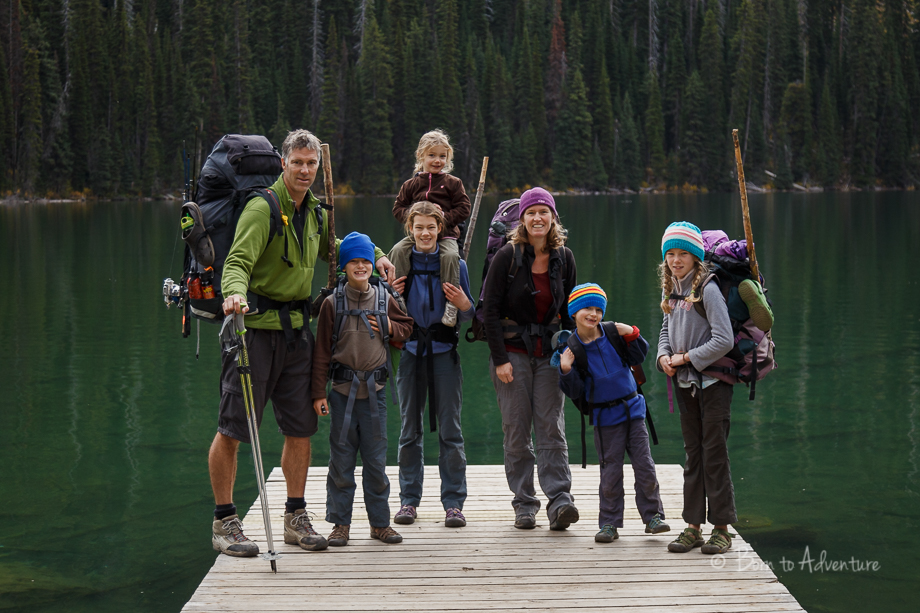 Family backpacking trip